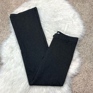 Betabrand Charcoal Gray Stretch Bootcut Pants